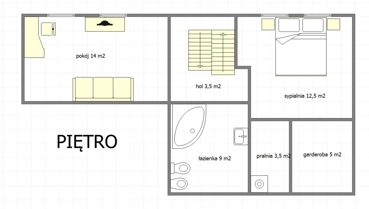 Projekt piętro Rubież
