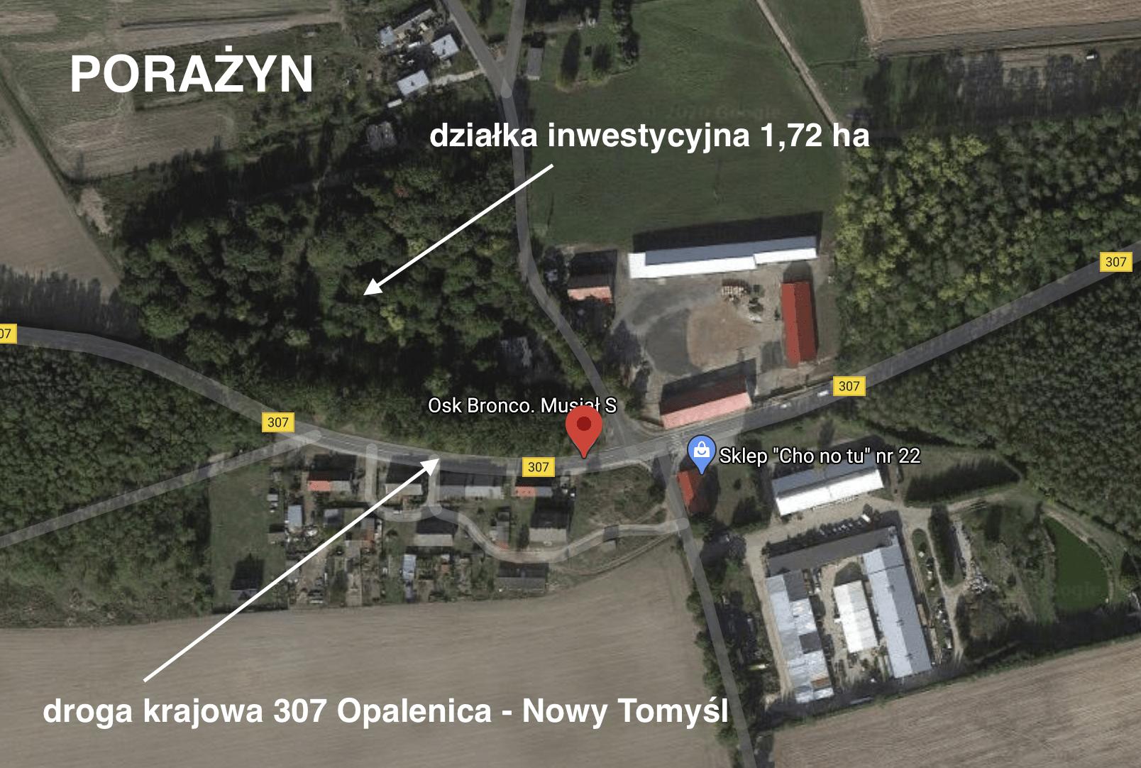 Atrakcyjny grunt inwestycyjny 1,72 ha Opalenica – Porażyn