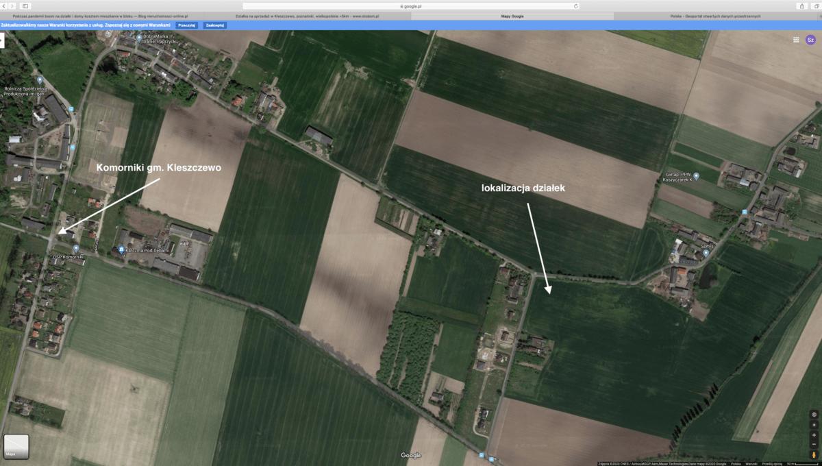 zrzut ekranu Google Maps 30.04.2020