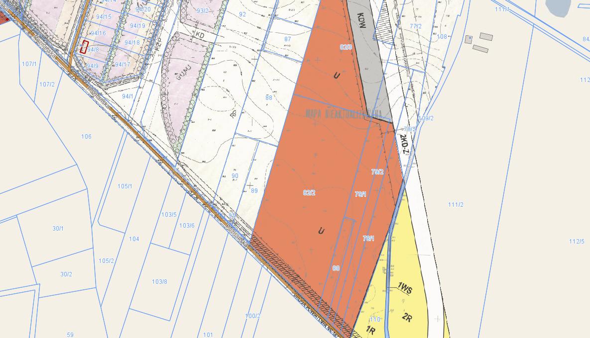 Plan zagospodarowania zrzut emapa 03.08.2020