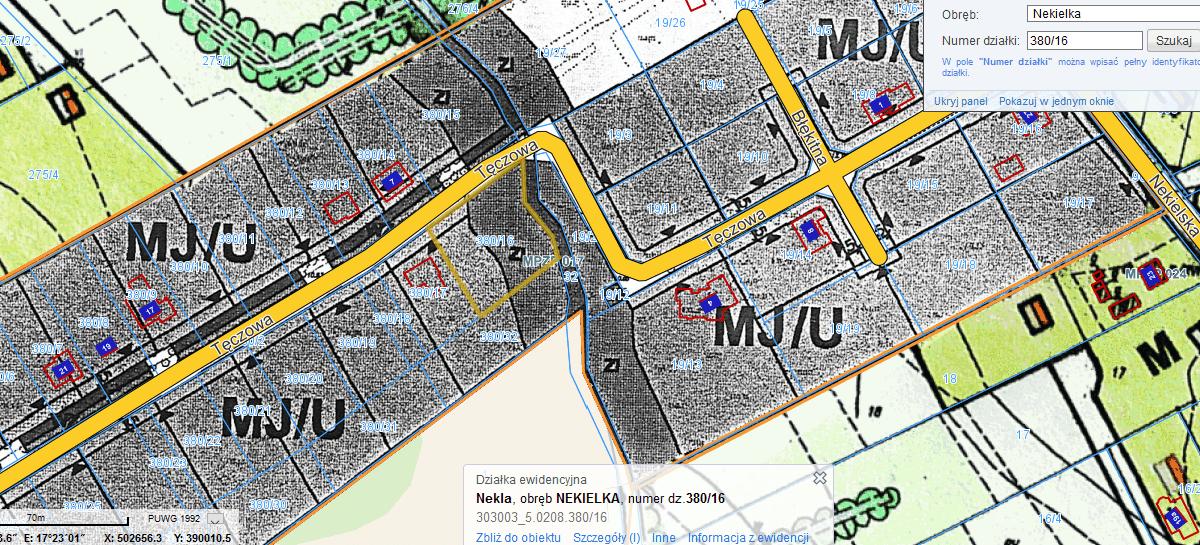 mapka z MPZP