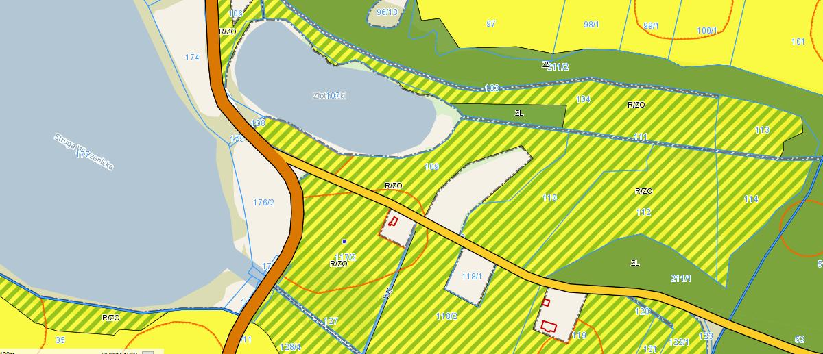 mapka z miejscowym planem zagospodarowania